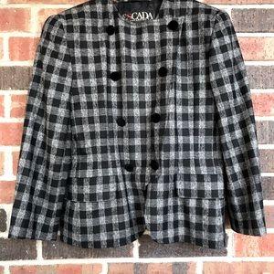 ESCADA Vintage double breasted blazer Sz 42